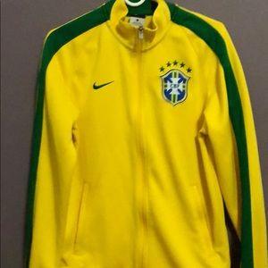 Nike Official 2016 2017 Brazil Football Jackets